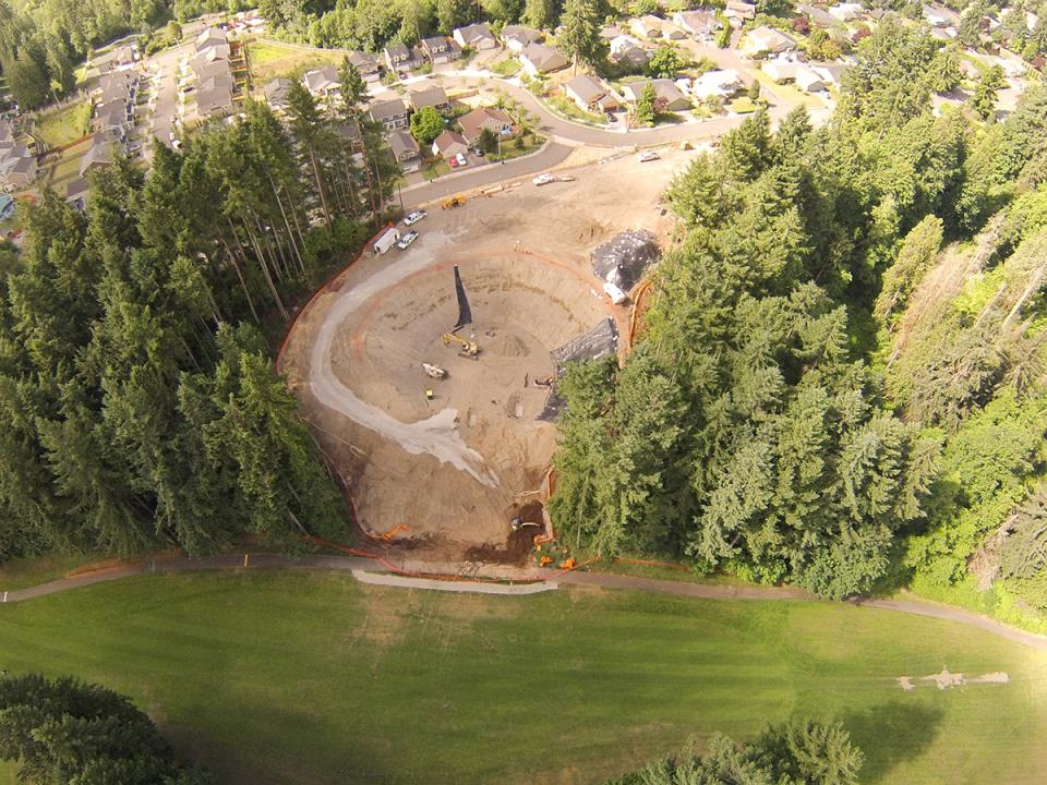 Future site from Tumwater Valley Golf Course, June 2014
