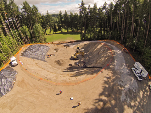 Deschutes Valley Park - water tank site under construction