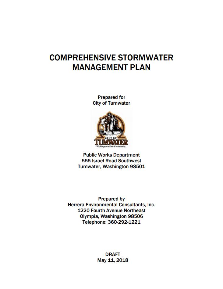 Comprehensive Stormwater Management Plan 2018