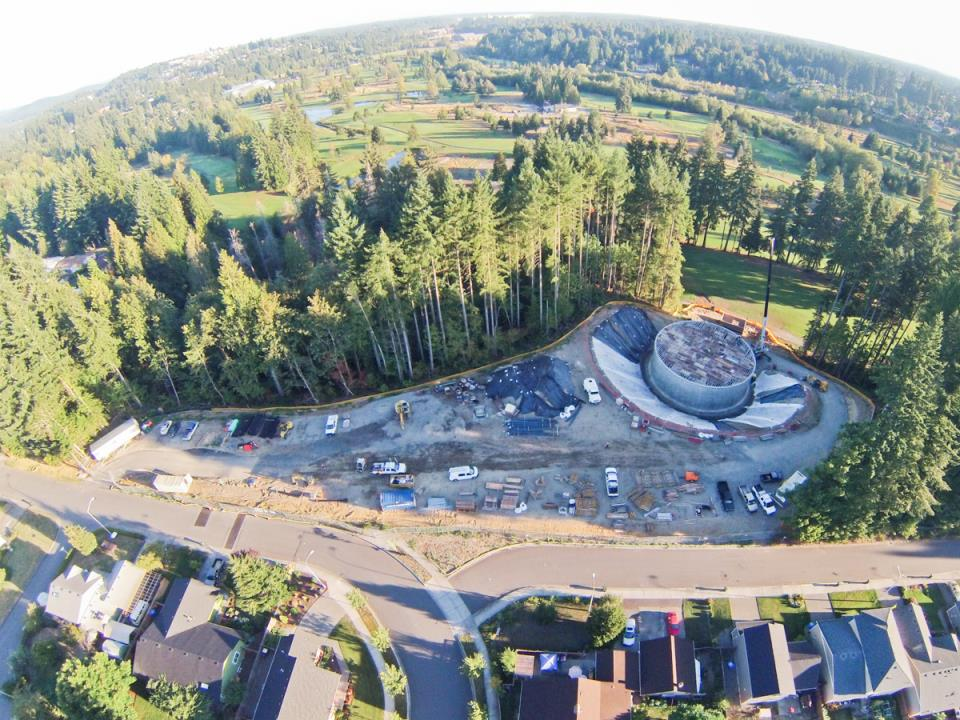 Deschutes Valley Park - overhead view of park site and water tank