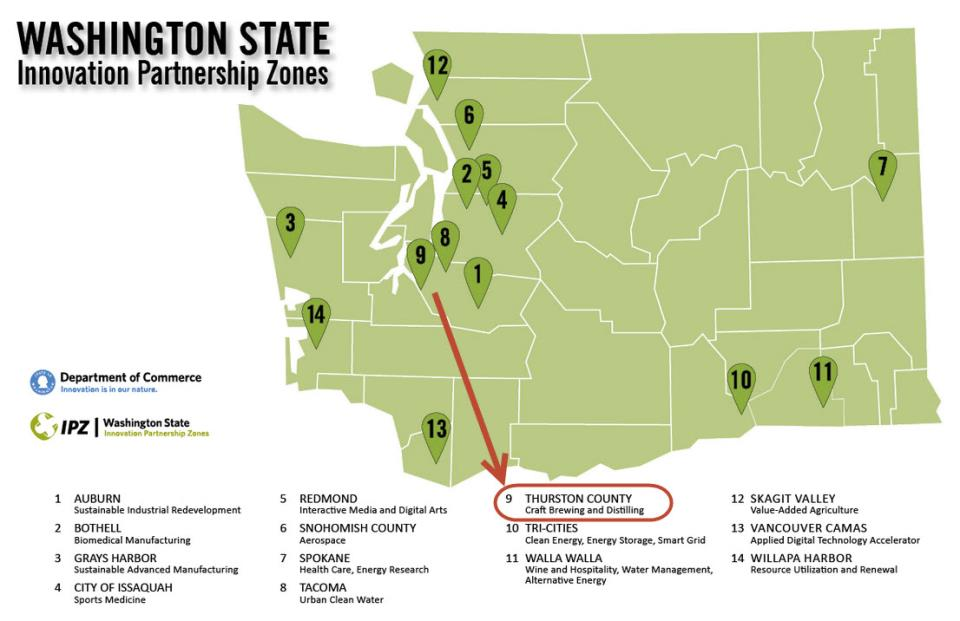 Thurston Craft Brewing and Distilling IPZ | City of Tumwater, WA on