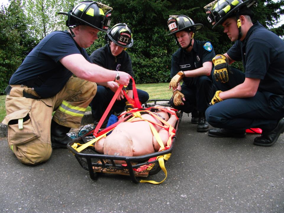 Firefighters EMS training