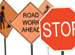 traffic and road construction signs
